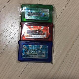 ゲームボーイアドバンス(ゲームボーイアドバンス)のゲームボーイアドバイス エメラルド、ルビー、サファイア(携帯用ゲームソフト)