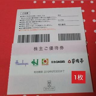ハンキュウヒャッカテン(阪急百貨店)の1枚 阪急 阪神 株主優待割引券(ショッピング)