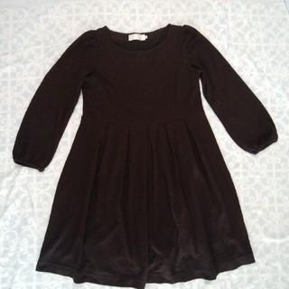 クチュールブローチ(Couture Brooch)の【値下げ♪】黒・きれいめワンピース(良品) 透かし模様入り(ひざ丈ワンピース)
