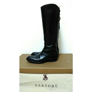 サルトル(SARTORE)のサルトルSARTOREシングルバッグベルトレザーロングブーツ36(ブーツ)