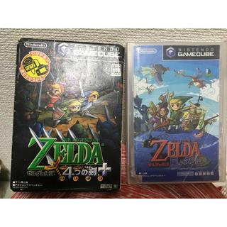 ニンテンドーゲームキューブ(ニンテンドーゲームキューブ)のゼルダの伝説 4つの剣+  風のタクト セット(家庭用ゲームソフト)