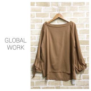 グローバルワーク(GLOBAL WORK)の【GLOBAL WORK】袖結びトップス グローバルワーク(カットソー(長袖/七分))