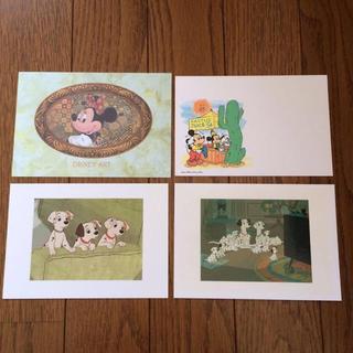 ディズニー(Disney)のディズニーポストカード 4枚セット(キャラクターグッズ)