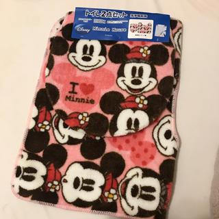 ディズニー(Disney)の新品!ミッキー&ミニートイレマット2点セット(トイレマット)