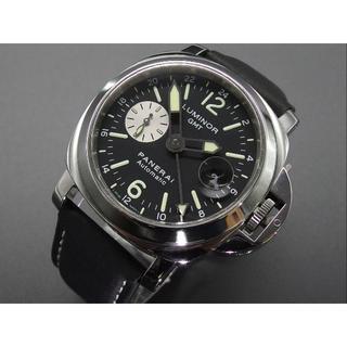 パネライ(PANERAI)のK番 PAM00088GMT パネライ ルミノール 箱、替えベルト、説明書付き (腕時計(アナログ))
