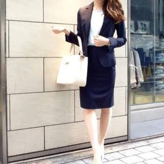 スーツカンパニー(THE SUIT COMPANY)の美品◼︎スーツカンパニー ストライプ スカートスーツ ジャケット(スーツ)