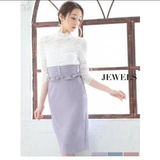 ジュエルズ(JEWELS)の袖あり ドレス レーストップス×ハイウェストスカート(ナイトドレス)