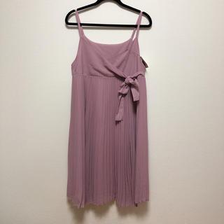 クチュールブローチ(Couture Brooch)のクチュールブローチ シフォン プリーツ ワンピース 新品(ひざ丈スカート)