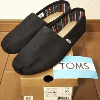 トムズ(TOMS)の☆ 新品 トムズ 9.5 ブラック スリッポン ☆(スリッポン/モカシン)