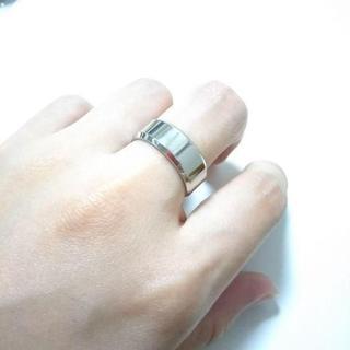 ミラーシルバーリング 8mm幅 単品(リング(指輪))
