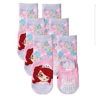 ディズニー(Disney)のディズニー 小さなプリンセスソフィア 12-15cm クルー丈ソックス靴下 3足(靴下/タイツ)