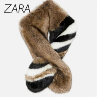 ZARA - 【新品・未使用】ZARA フェイクファー マフラー