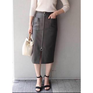 ノーブル(Noble)のダブルクロスフープジップタイトスカート (ひざ丈スカート)