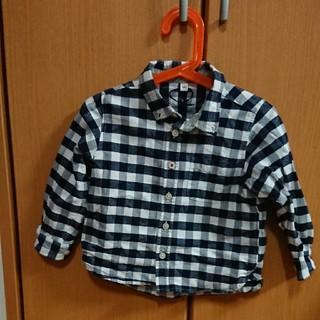 ムジルシリョウヒン(MUJI (無印良品))の無印良品 ギンガムチェックシャツ100(Tシャツ/カットソー)