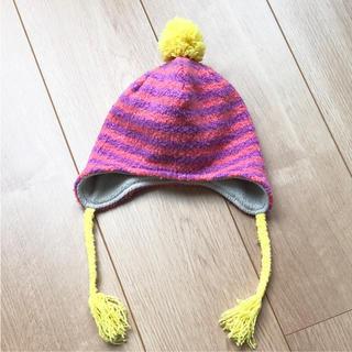 ブランシェス(Branshes)のブランシェス  ニット帽 44 46 耳あて ベビー キッズ 1歳 2歳 女の子(帽子)