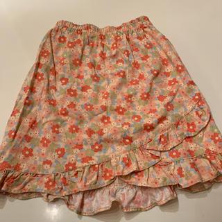 シャマ(shama)のキッズスカート  120センチ 花柄 フリル シャママルタ(スカート)
