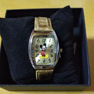 ディズニー(Disney)のミッキーマウス 腕時計 ゴールド(腕時計)