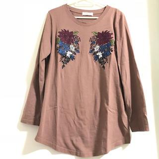 ダブルネーム(DOUBLE NAME)の刺繍ロンT(Tシャツ(長袖/七分))