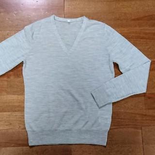 ムジルシリョウヒン(MUJI (無印良品))の無印良品 Vネックシルク混ウールセーター (ニット/セーター)
