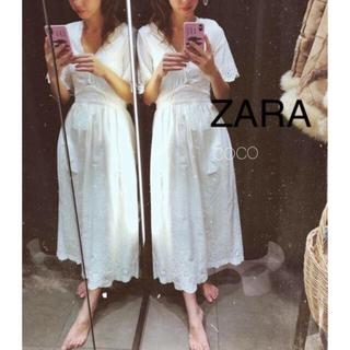 ZARA - 新品!ZARA 刺繍入りワンピース レースワンピース