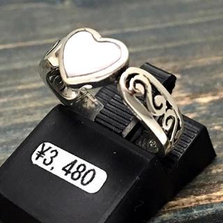 半額★【6号】ピンクシェルハートピンキーリング★本物シルバー925 指輪(リング(指輪))