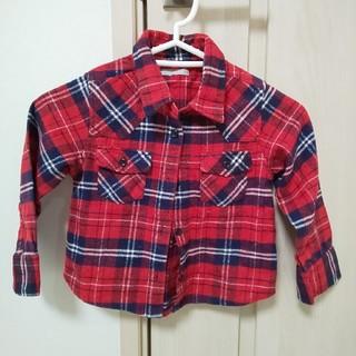 ジーユー(GU)のチェックシャツ、ジーユー、GU、110、ブランシェス、ブリーズ、アンパサンド(ジャケット/上着)