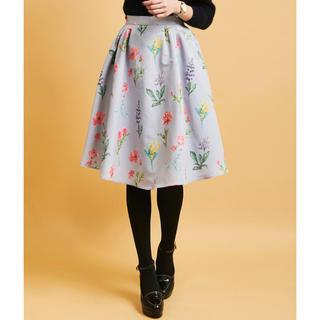 トランテアンソンドゥモード(31 Sons de mode)のボタニカル花柄フレアスカート(ひざ丈スカート)