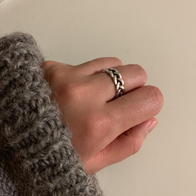 silver925 シルバー925 ねじり 編み リング レディースのアクセサリー(リング(指輪))の商品写真