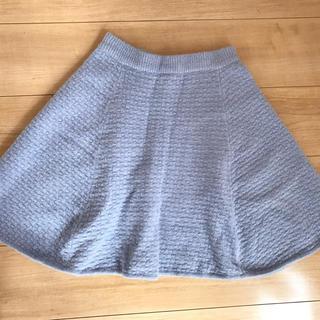 トランテアンソンドゥモード(31 Sons de mode)の美品☆ニットフレアスカート♡(ひざ丈スカート)