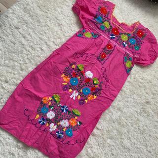 パナマボーイ(PANAMA BOY)のused 刺繍ワンピース(ロングワンピース/マキシワンピース)
