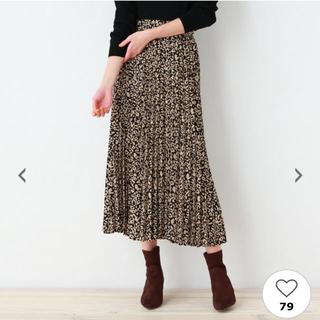 オゾック(OZOC)のレオパード柄 プリーツスカート(ロングスカート)