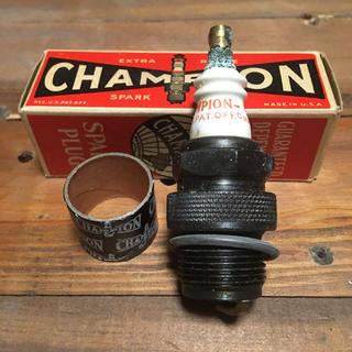 チャンピオン(Champion)の激レア 1930〜50's チャンピオンスパークプラグ ヴィンテージ品(その他)