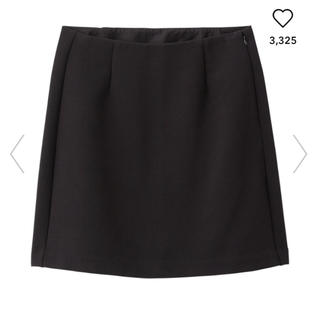 ジーユー(GU)のカラーミニスカート ブラック(ミニスカート)