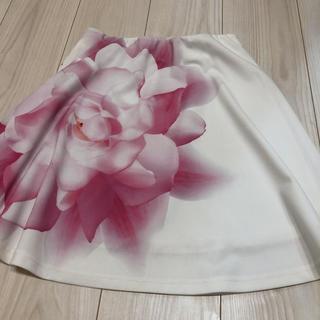 ダチュラ(DaTuRa)のダチュラ スカート お花 ホワイト(ミニスカート)