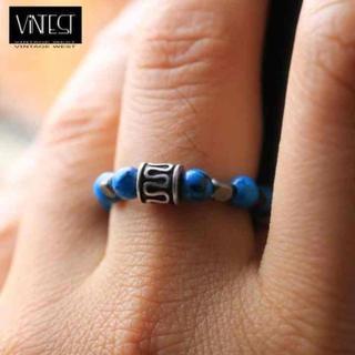 オルタII リング/指輪/ターコイズ ハウライト/ブルーxシルバー(リング(指輪))