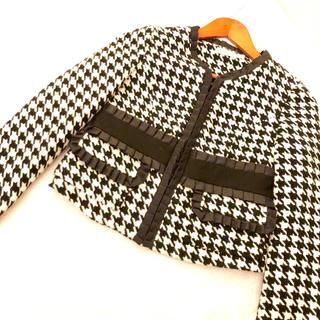 ナネットレポー(Nanette Lepore)の新品ナネットレポー千鳥ウールジャケット(ノーカラージャケット)