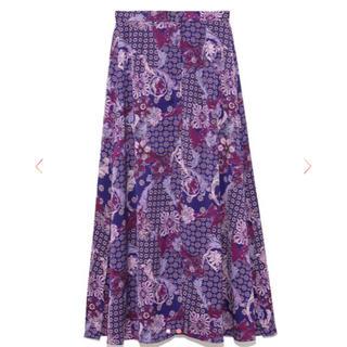フレイアイディー(FRAY I.D)の新品未使用 FRAY I.D ヴィンテージサテンプリントスカート  サイズ0(ロングスカート)