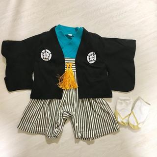 袴風ロンパース 靴下セット(和服/着物)