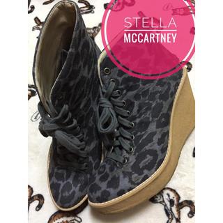 ステラマッカートニー(Stella McCartney)のSTELLA McCARTNEY《秋冬》レオパード ハイカット スニーカー 厚底(スニーカー)