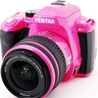 ペンタックス(PENTAX)の極上品レンズまで可愛いピンクスマホ転送OK付属品充実 K-r(デジタル一眼)