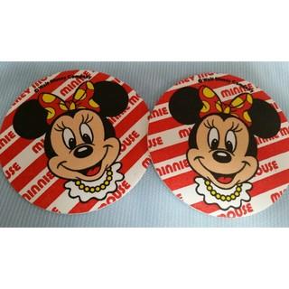 ディズニー(Disney)のミニー コースター ディズニー 赤 クリスマス(キャラクターグッズ)