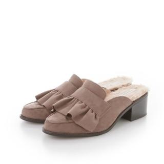 ウィルセレクション(WILLSELECTION)のウィルセレクション フリルローファー ベージュ(ローファー/革靴)