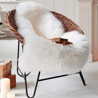 イケア(IKEA)の【送料無料】洗える ムートンラグ フェイクムートン ラグ 白(ラグ)