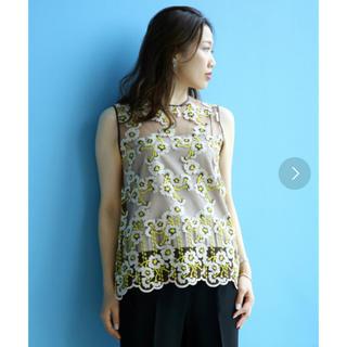 デミルクスビームス(Demi-Luxe BEAMS)のDemi-Luxe BEAMS チュール刺繍 プルオーバー(シャツ/ブラウス(半袖/袖なし))