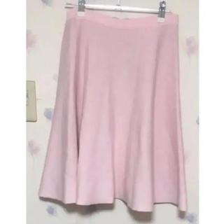 トランテアンソンドゥモード(31 Sons de mode)のピンクフレアスカート (ひざ丈スカート)