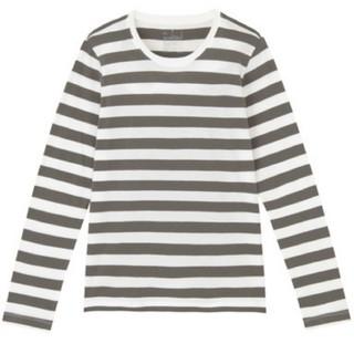 MUJI (無印良品) - 新品☆無印良品 オーガニックコットン クルーネック長袖Tシャツ グレー