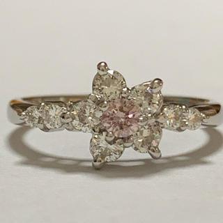 ピンクダイヤモンド リング pt900 10.5号(リング(指輪))