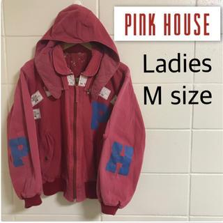 ピンクハウス(PINK HOUSE)のピンクハウス ビッグロゴ レディースM フード付き ジャンパー パーカー(ブルゾン)