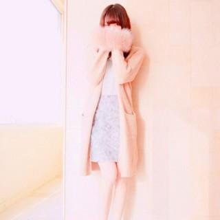トランテアンソンドゥモード(31 Sons de mode)のフォックスファー♥️萌え袖ニットカーデ(カーディガン)