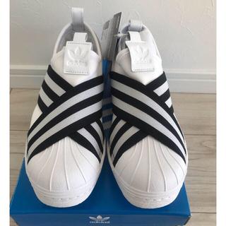 アディダス(adidas)の新品 adidas スーパースター スリッポン ホワイト 23㎝(スリッポン/モカシン)